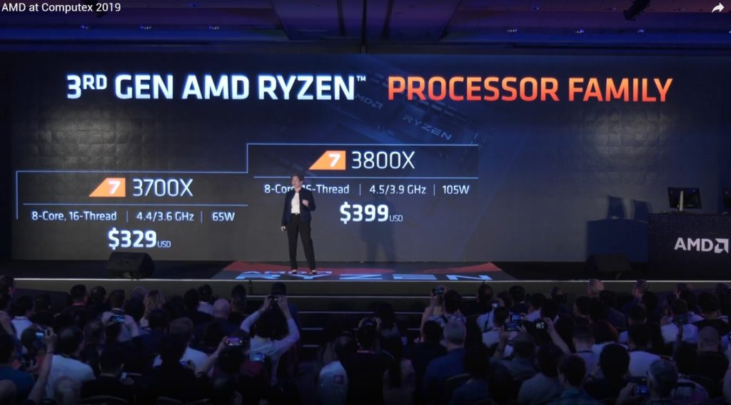 Ryzen -2 --3000 3600X 3700X 3800X 7nm Zen2 Computex 2019 historica conferencia Lisa Su AMD in4 noticias granada