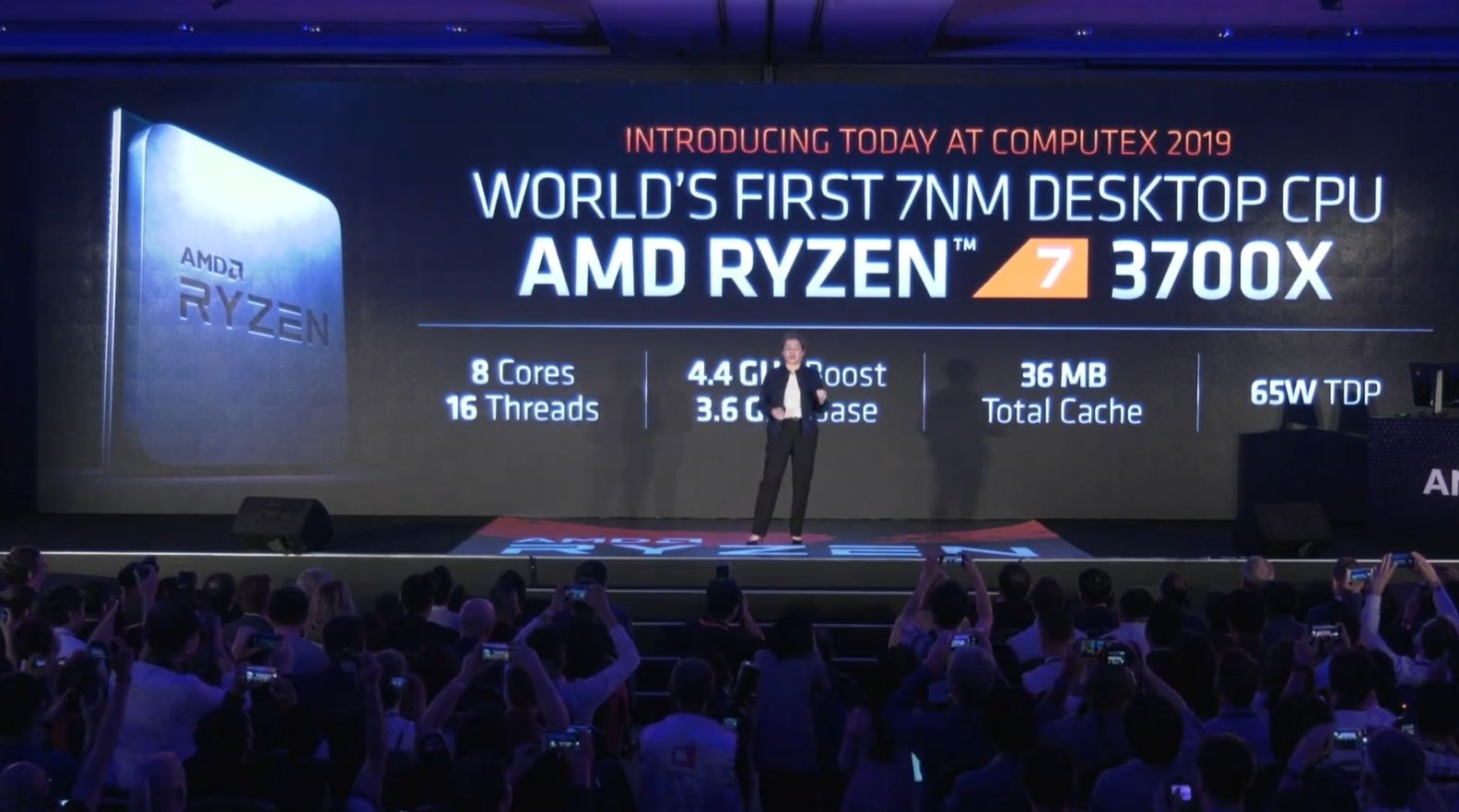 Ryzen -6- 3000 3600X 3700X 3800X 7nm Zen2 Computex 2019 historica conferencia Lisa Su AMD in4 noticias granada