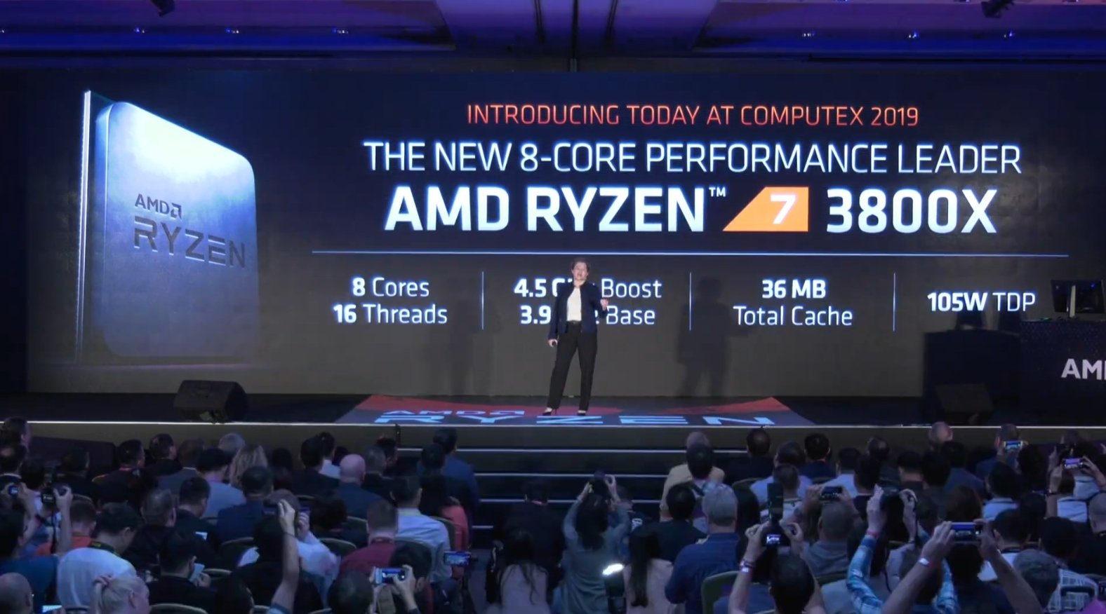 Ryzen - 8 3000 3600X 3700X 3800X 7nm Zen2 Computex 2019 historica conferencia Lisa Su AMD in4 noticias granada