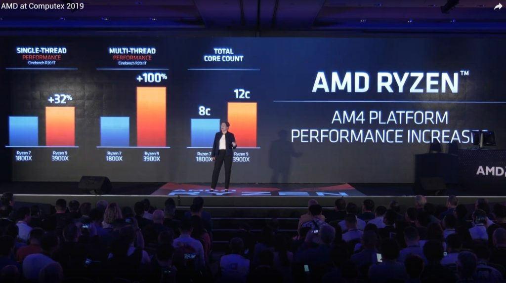 Ryzen 3000 3600X 3700X 3800X 7nm Zen2 Computex 2019 historica conferencia Lisa Su AMD in4 noticias granada