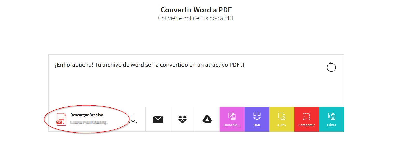 Convertir de Word Excel o Power Point a PDF 1