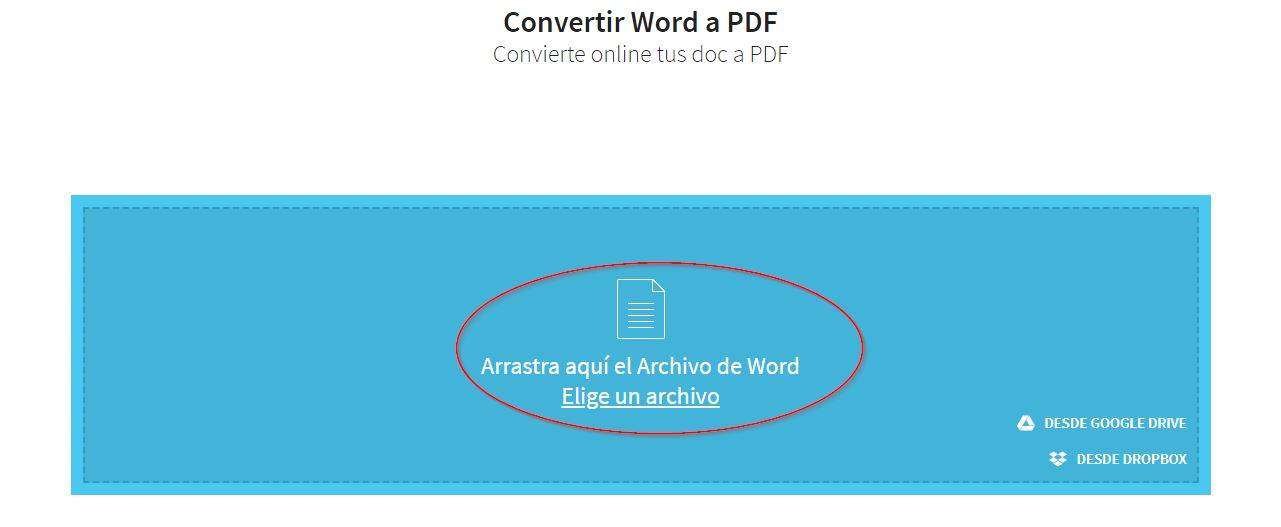 Convertir de Word Excel o Power Point a PDF 3